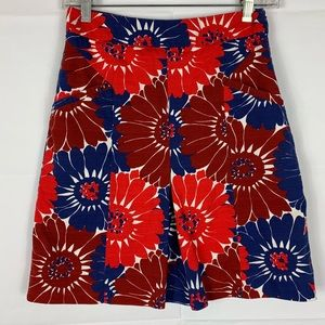 Boden floral pleated skirt size 2R